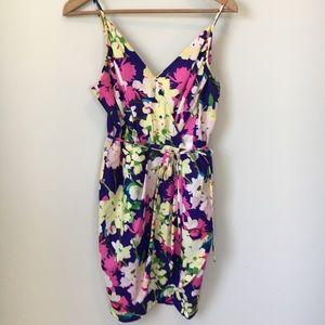 Yumi Kim Floral Jayne Faux Wrap Dress Blue Medium